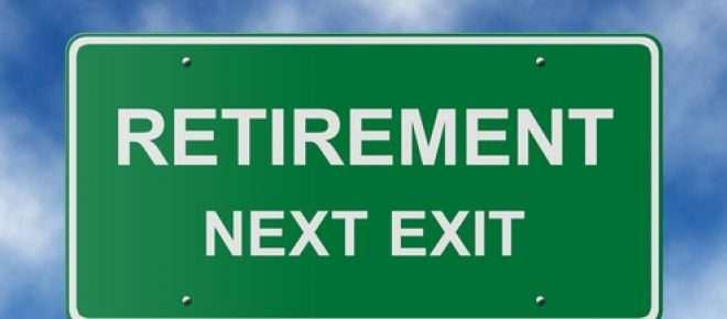 "Highway sign of ""Retirement Next Exit"""